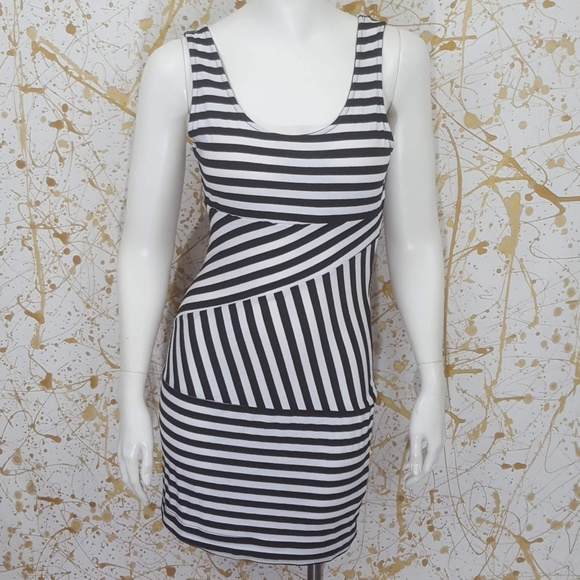 7443edf32b Mind Code Dresses | Bodycon Mini Dress Striped Size Medium | Poshmark